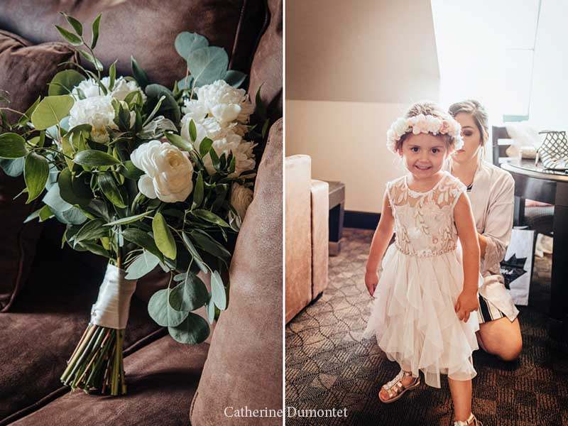 bouquet et bouquetière à l'hôtel Place D'Armes