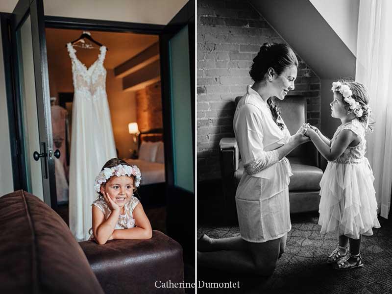 Préparation de la mariée à l'Hôtel Place D'Armes