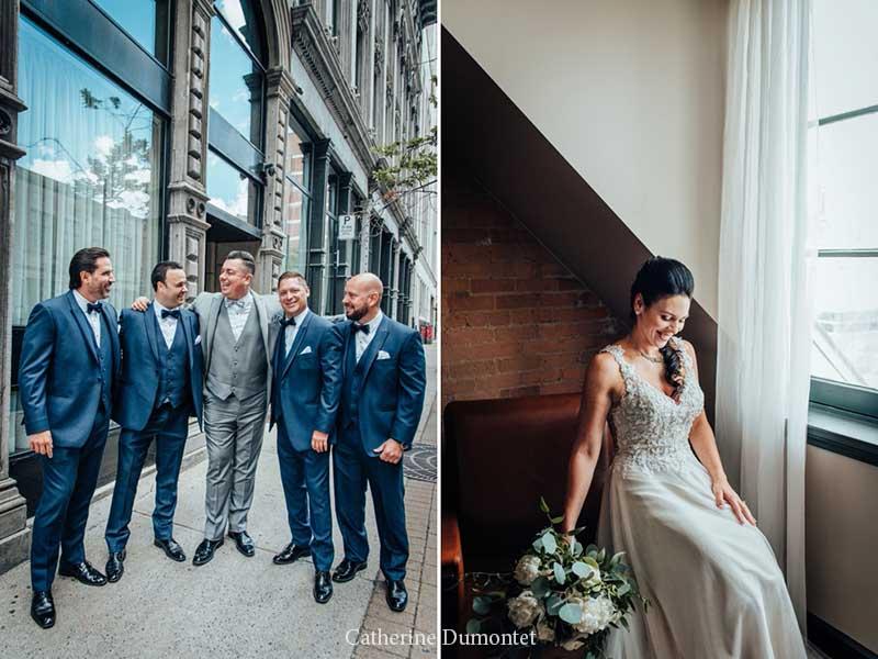 mariés à l'Hôtel Place D'Armes
