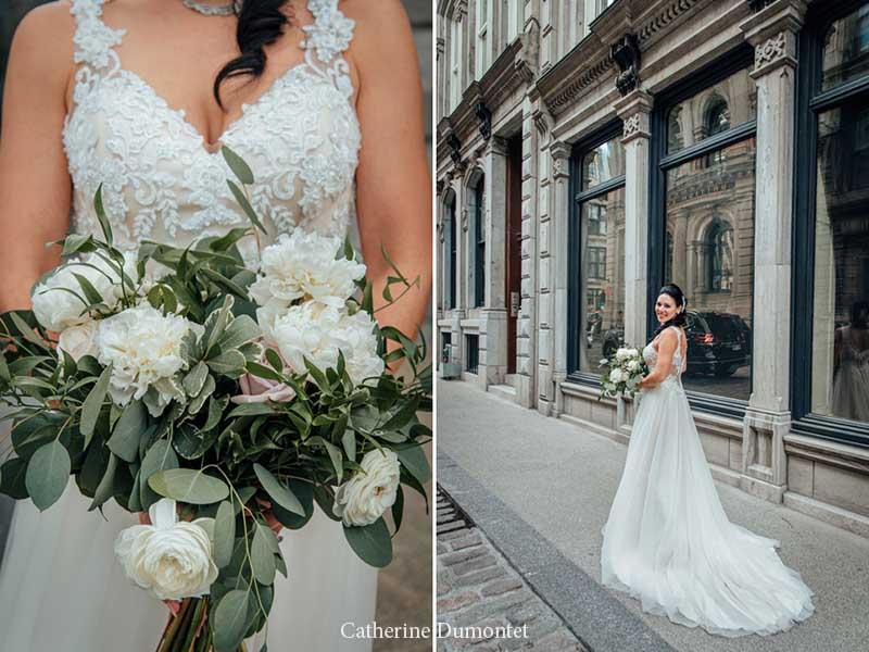 La mariée dans le Vieux-Port de Montréal