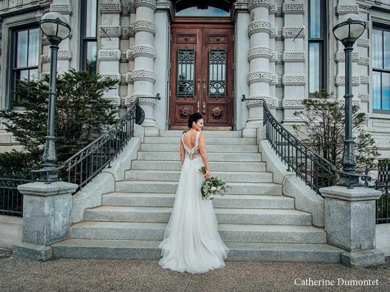La mariée dans le Vieux-Montréal