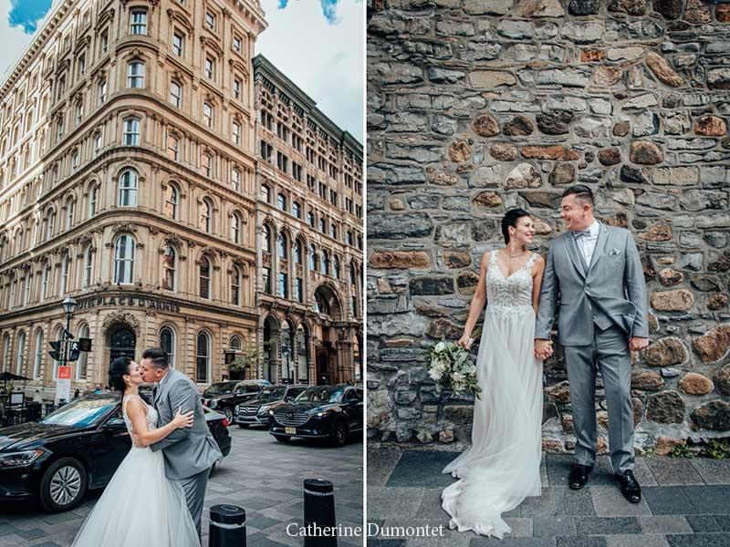 Les mariés dans le Vieux-Port de Montréal