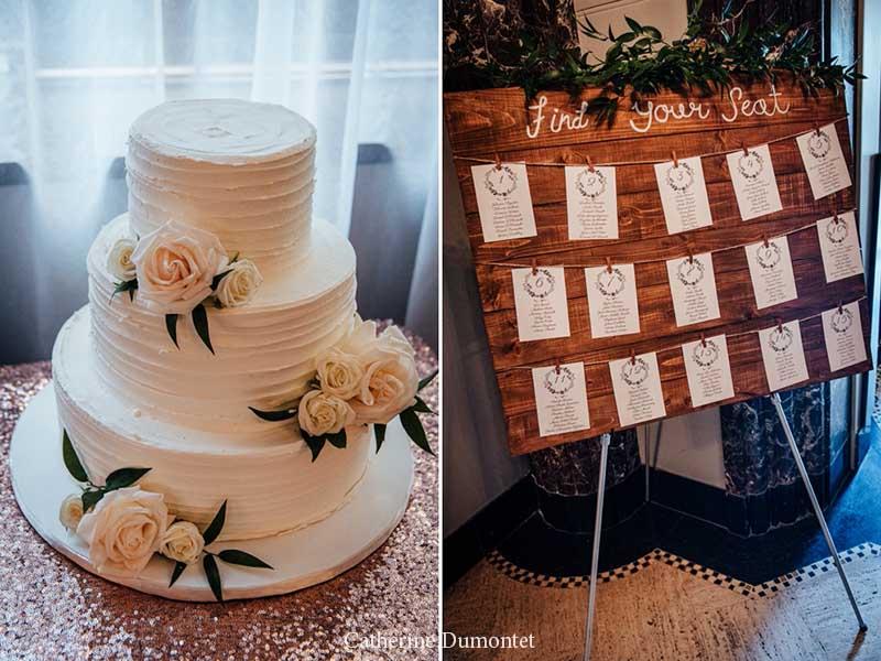 décorations de mariage à l'Hôtel Place D'Armes