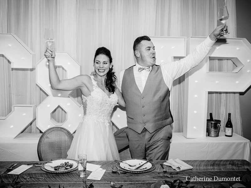 toast des mariés à l'Hôtel Place D'Armes