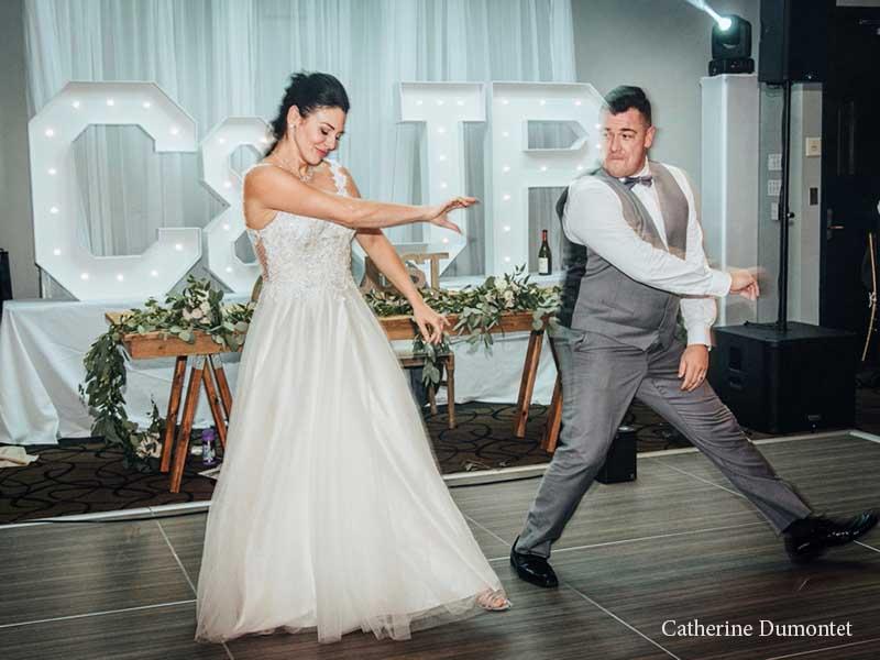 Danse surprise des mariés à l'Hôtel Place D'Armes