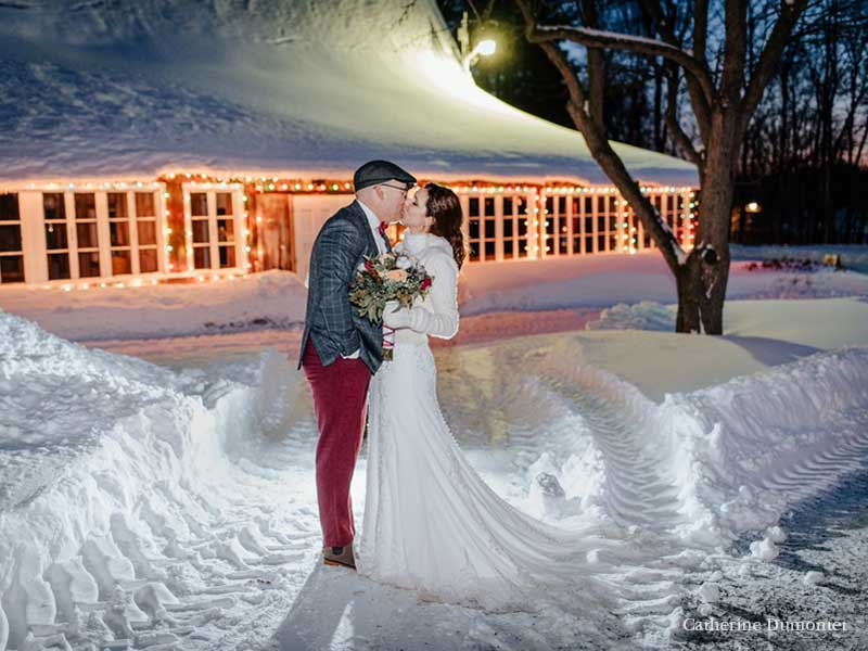 Mariage d'hiver au Village Québécois d'Antan