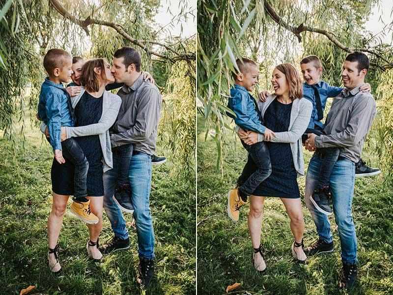 séance photo famille de quatre