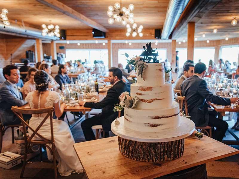 gâteau de mariage à La Bullerie