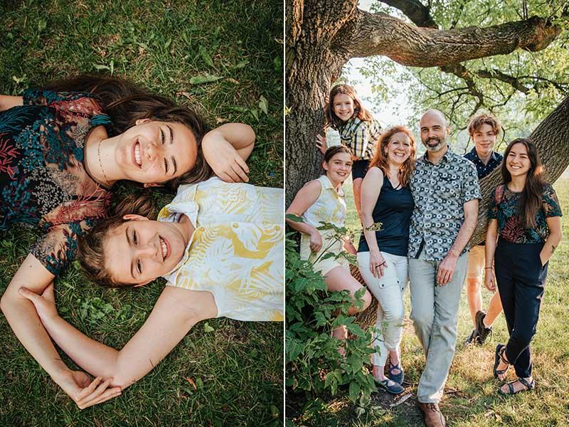 séance famille de six