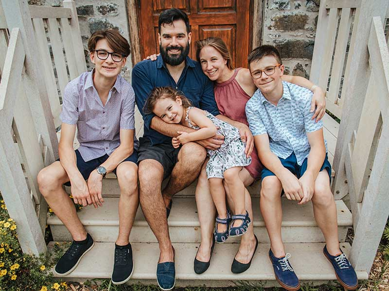 Séance famille au Parc André-J. Côté