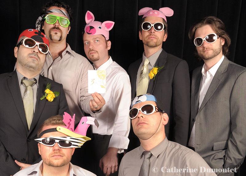 photobooth avec le marié et ses amis
