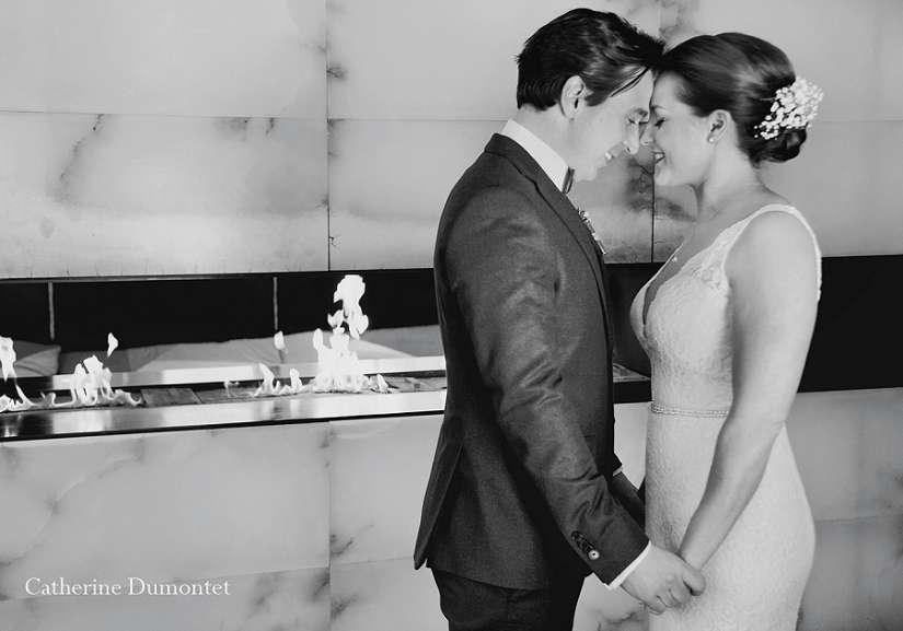 Les mariés pendant le first look
