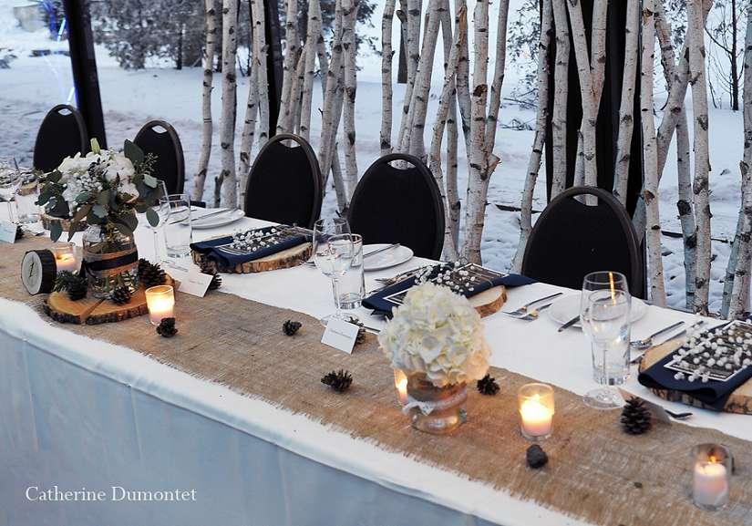salle de réception La Toundra, en hiver