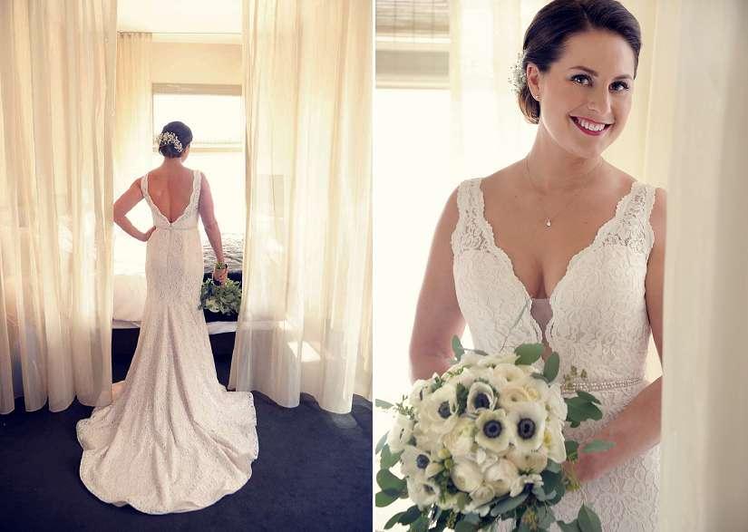 Portraits de la mariée à l'hôtel St-Paul