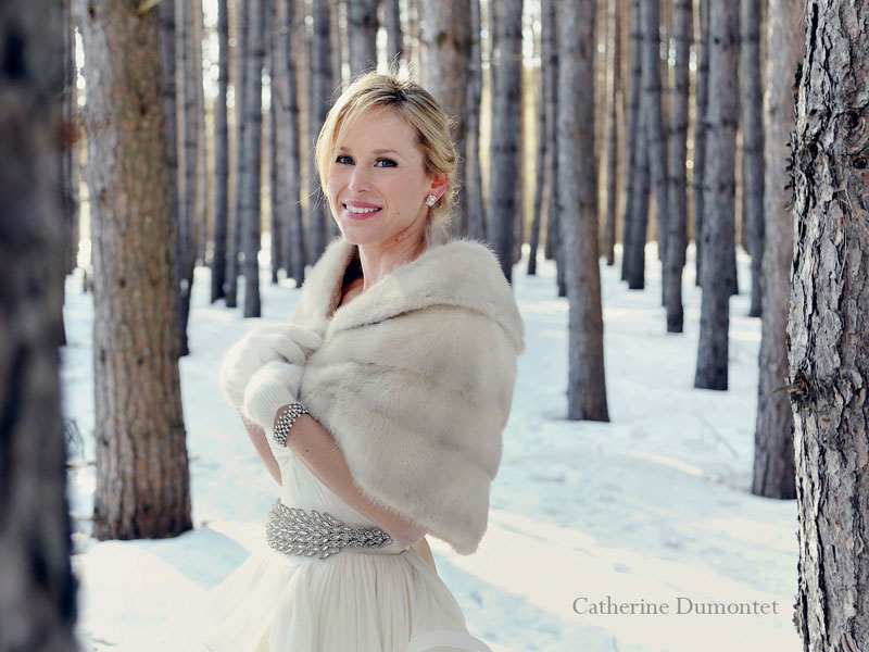 the bride in the Laurentians woods