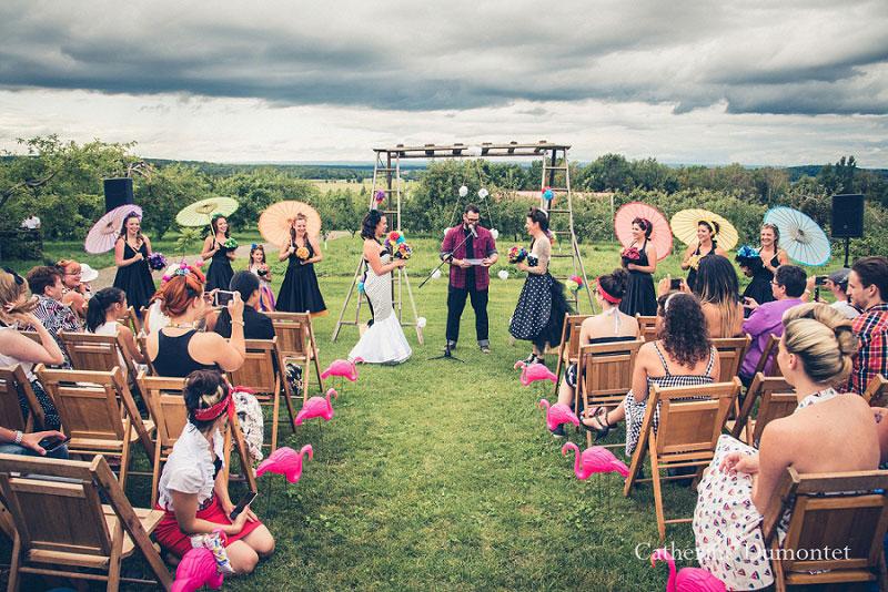 cérémonie de mariage au Jude-Pomme