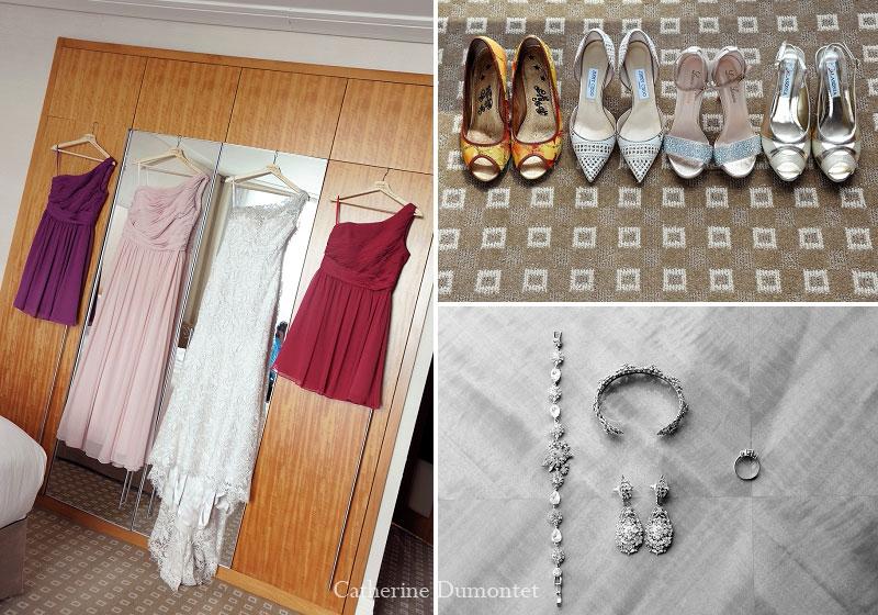 accessoires de la mariée et du cortège