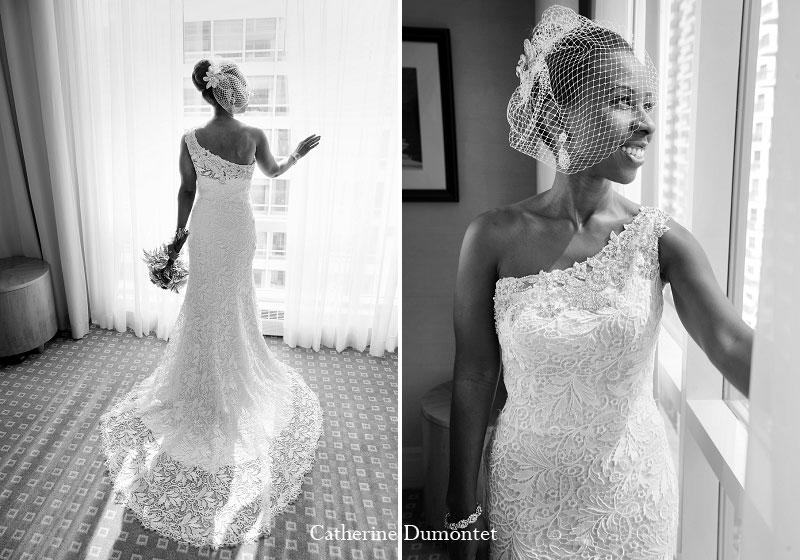 La mariée dans sa magnifique robe