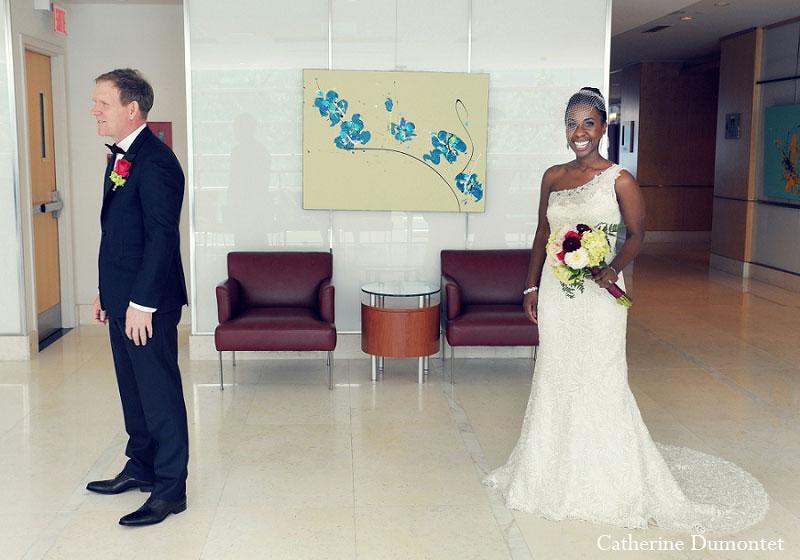 First Look des mariés au Sofitel