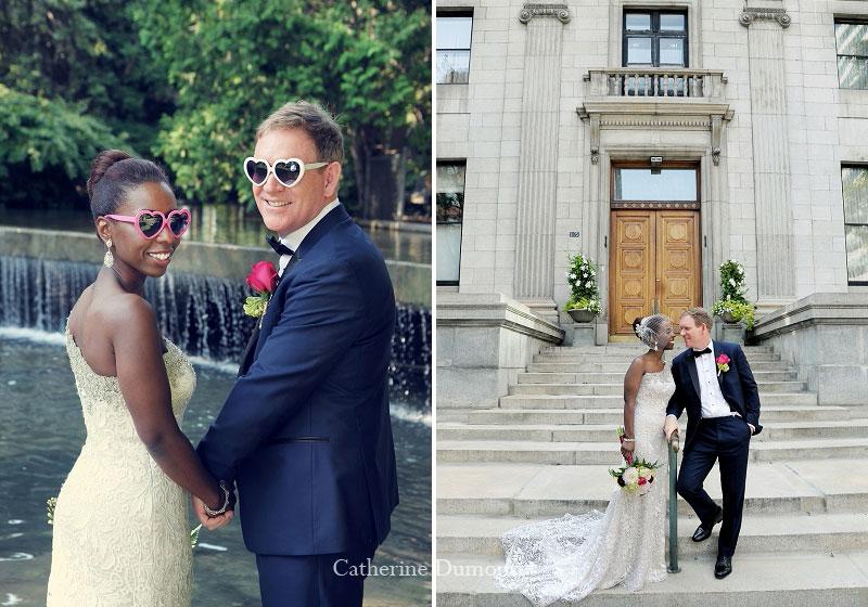 les mariés au Parc Westmount et sur Sherbrooke