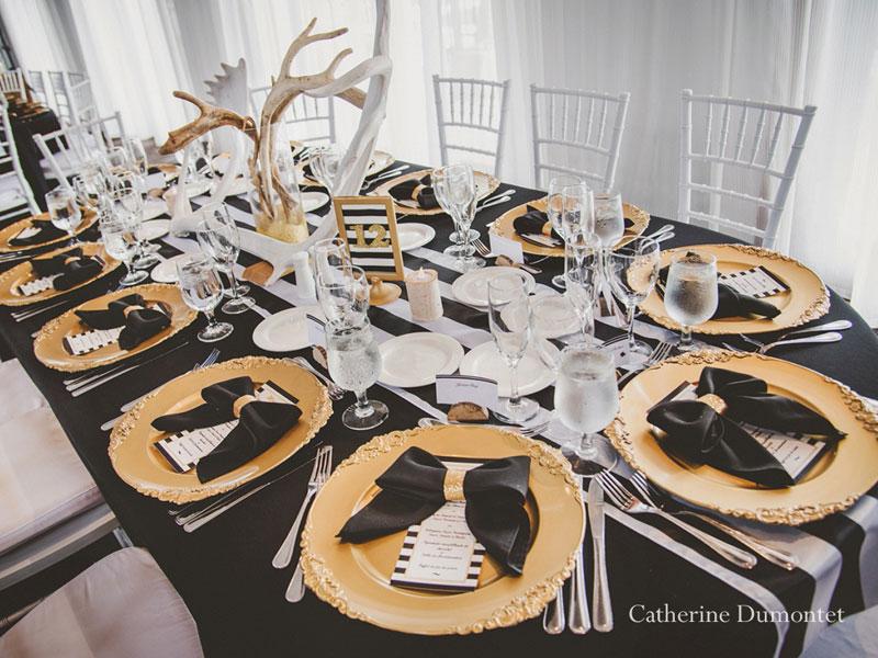 décoration de table à l'Auberge des Gallant