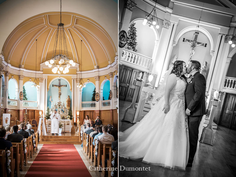 cérémonie de mariage à l'Église St-Sauveur