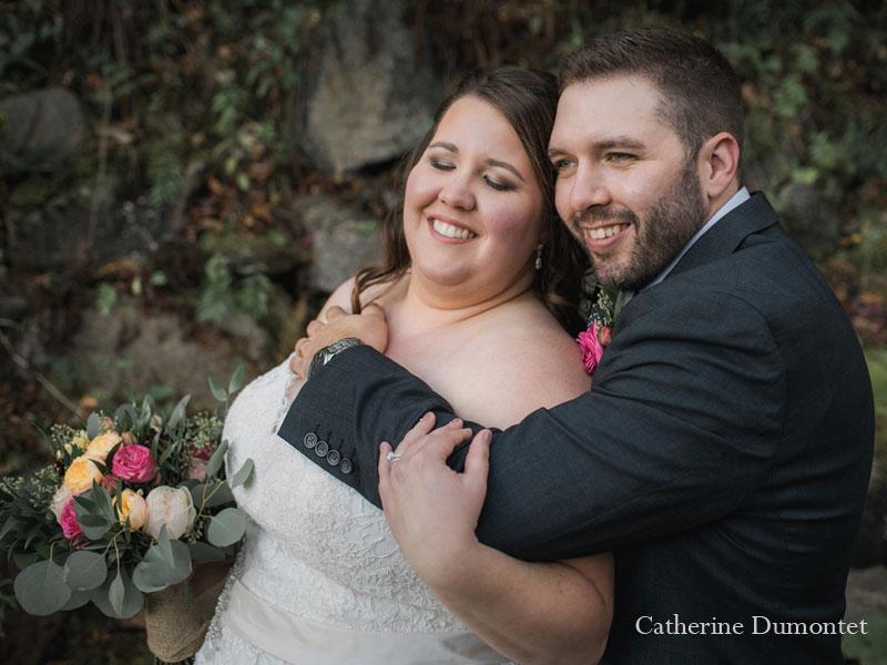 Les mariés à l'Hôtel Mont-Gabriel