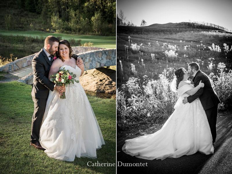 Les mariés à l'Hôtel Mont-Gabriel dans les Laurentides