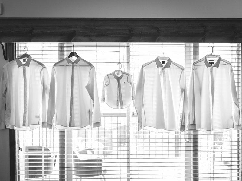 Les chemises des gars