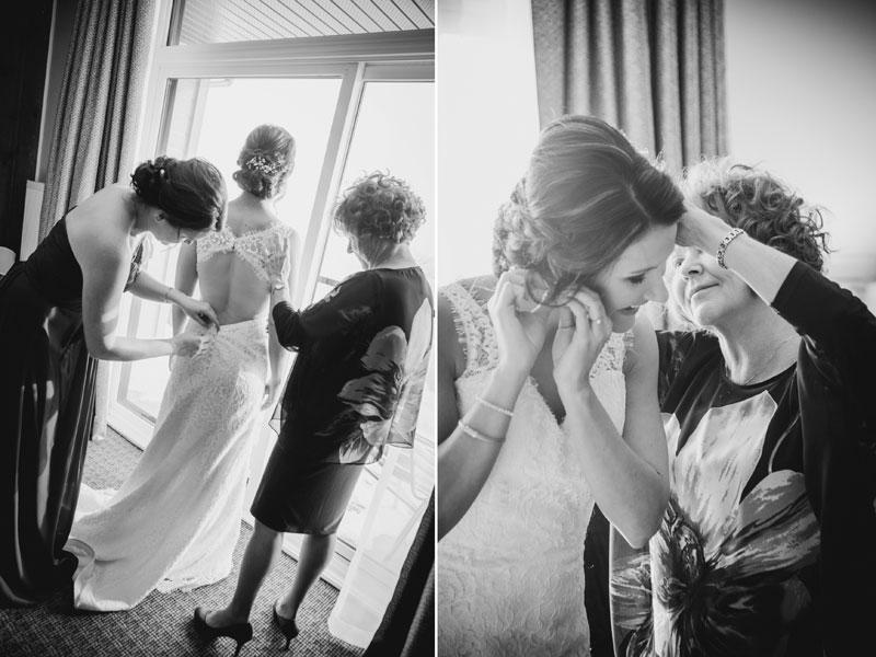 La mariée qui s'habille