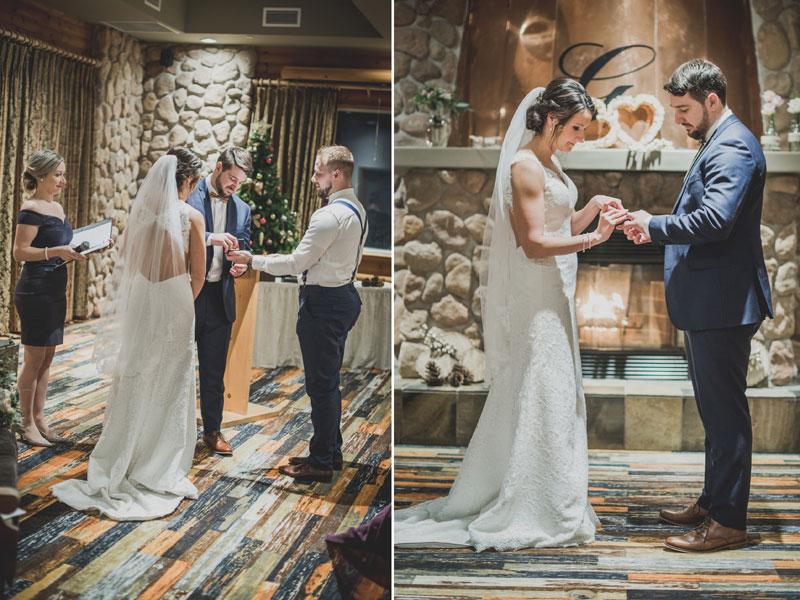 Les mariés échangent les anneaux