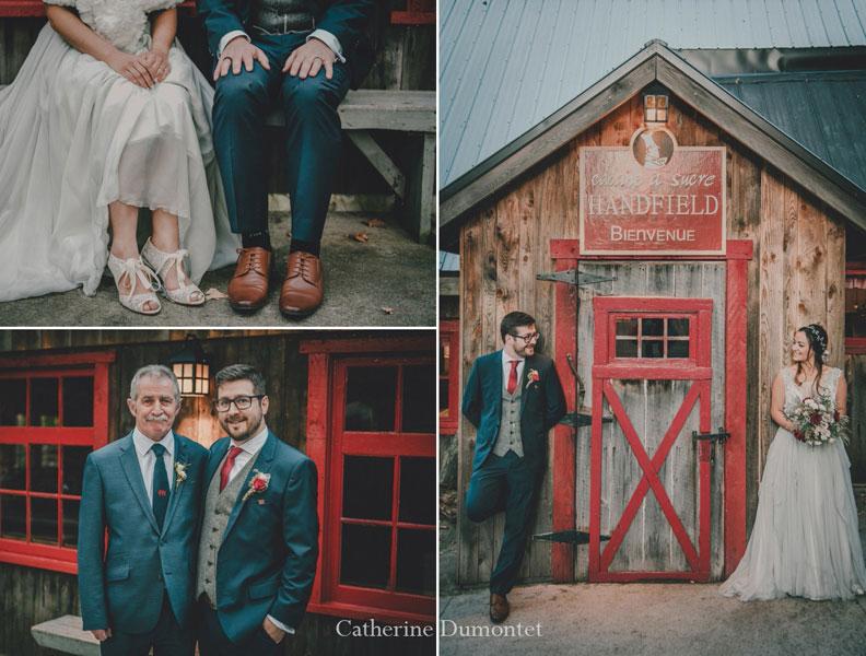Les mariés à la Cabane à sucre Handfield