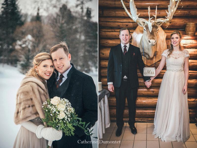 mariage d'hiver au Restaurant Le Rustique
