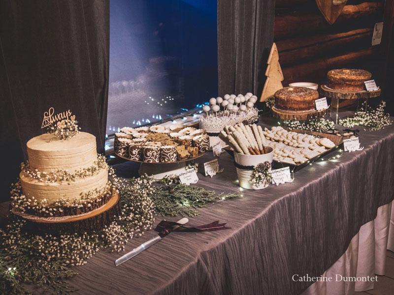 table de desserts mariage en hiver