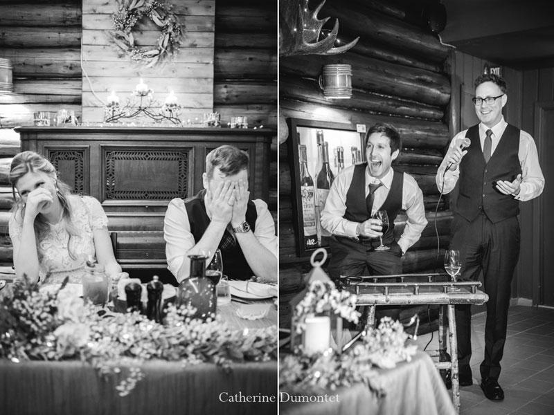 réception mariage d'hiver au Restaurant Le Rustique