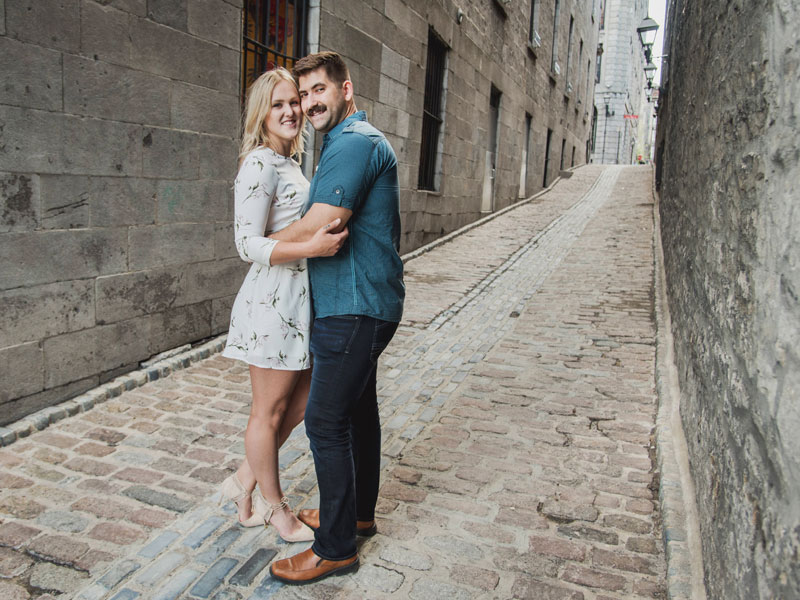 Engagement photo in the old port