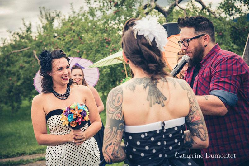 cérémonie d'un mariage gay