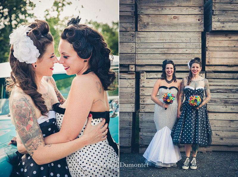 mariage gay avec deux mariées