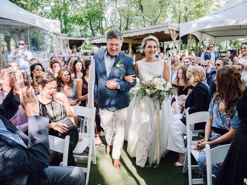 arrivée de la mariée à l'Ile Navark