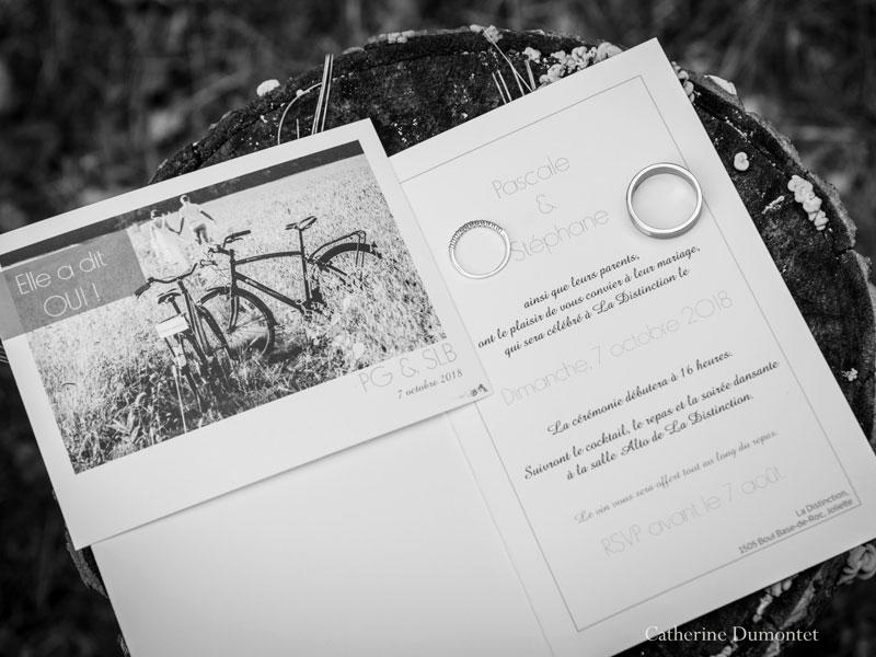 invitation mariage à La Distinction