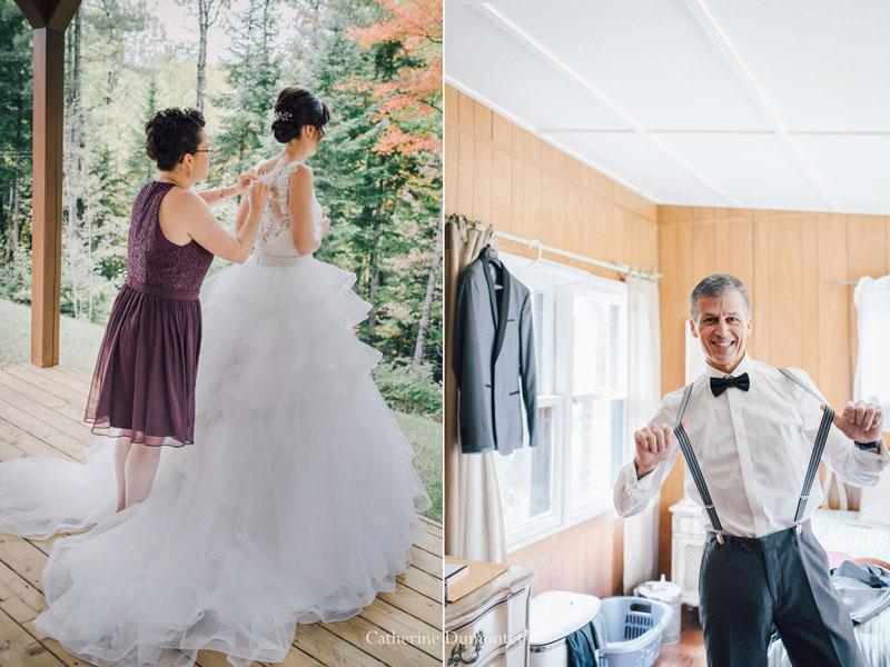 mariage en automne à Rawdon