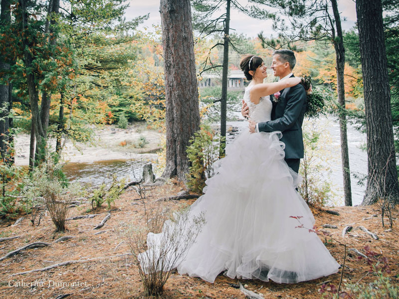 mariage automnal à Rawdon