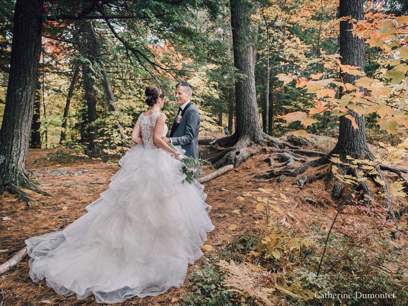 mariage d'automne à Rawdon