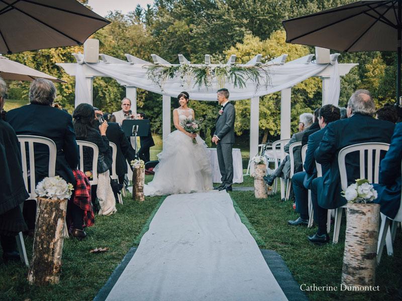 cérémonie de mariage extérieur à La Distinction