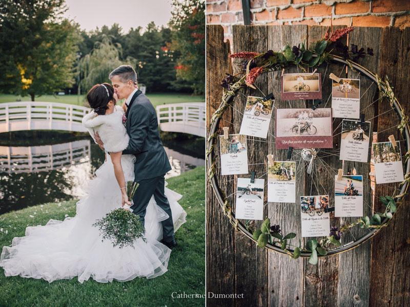 mariés et plan de tables à La Distinction