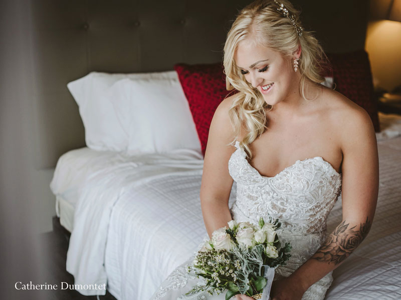the bride at Hotel Mont Gabriel