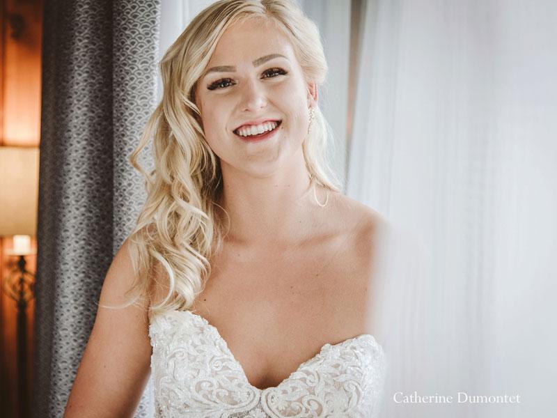 the bride at Hotel Mont-Gabriel