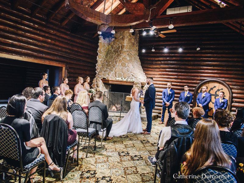 wedding ceremony at Hotel Mont-Gabriel