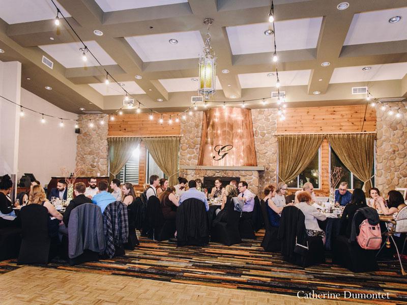 wedding reception at Hotel Mont Gabriel