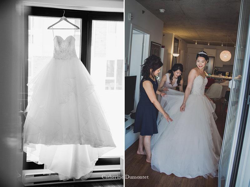 la mariée s'habille